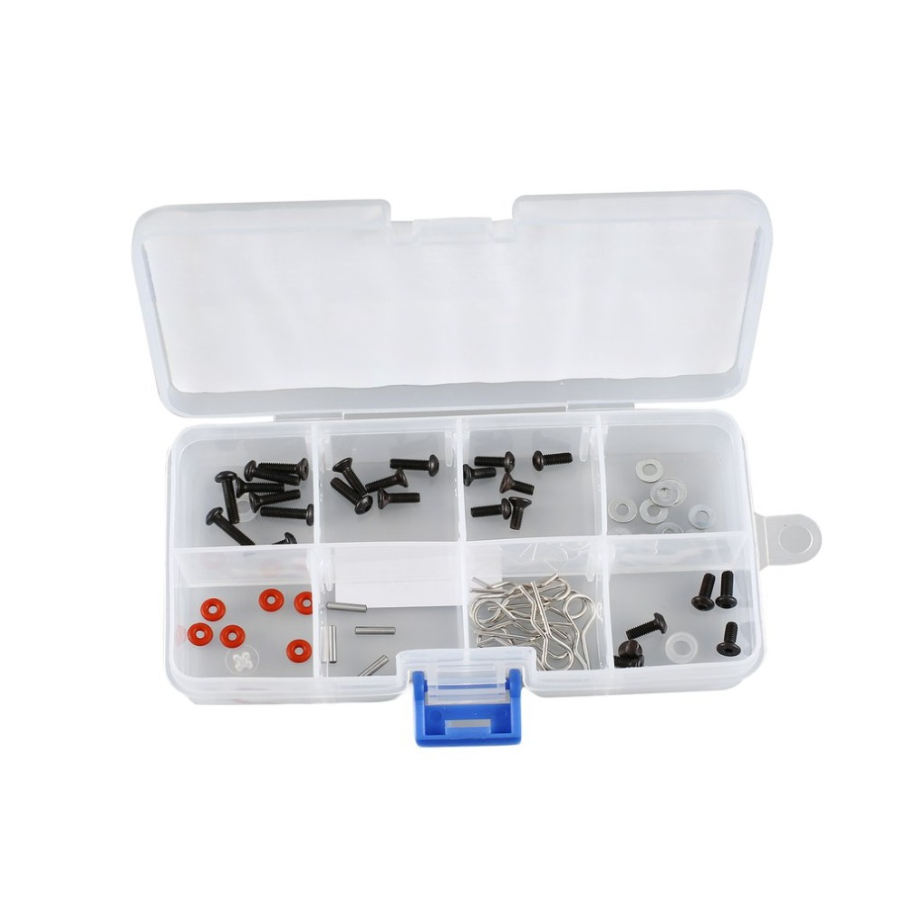 F-141 8 Slots Cells Portable Tool Box Electronic Parts Screw Beads Ring Component Box Plastic Storage Box Container Holder