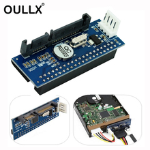 OULLX SATA IDE Adapter 40 Pin IDE to SATA Connector 3.5 HDD IDE/PATA Hard Disk Adapter Converter With 7Pin-SATA Data Cable sata 22 pin to 50pin 1 8 inch ide hard drive ssd adapter convertor card pcba ide to sata ide adapter card sata to ide