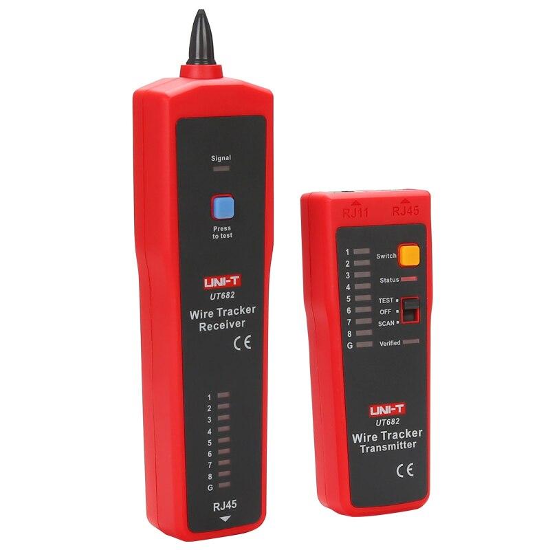 UNI-T UT682 для проверки витой пары, телефонной проводки; анти-помех линии/светодиодная подсветка для patrol линия проверка/мульти-функциональный сетевой кабель тестер