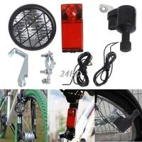Motorizado bicicleta gerador de fricção dínamo cabeça cauda luz acessories d11