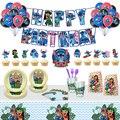Сшитые принадлежности для тематической вечеринки шить воздушные шары с днем рождения баннер торт Топпер Baby Shower декорации Мальчик Дети игру...