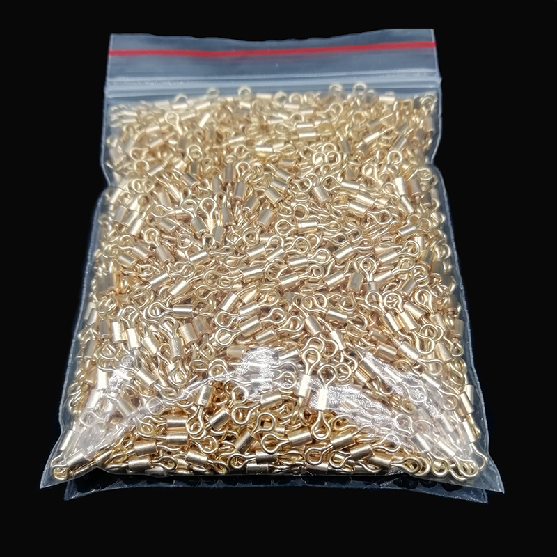 Wholse Gold Fishing Connector Rolling Swivel 1000pcs/lot 8# 10# 12# Main Line Sub-connection Ring Fishing Accessories Pesca