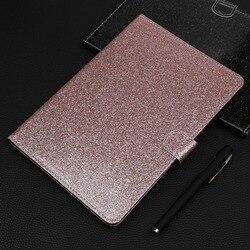 Coque pour Huawei MediaPad T5 10 10.1 pouces housse en cuir PU paillettes support coque pour tablette Huawei Medi apad T5 10 coque Funda