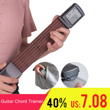 Portable Guitar Chord Trainer Pocket-Guitar Practice Tools LCD Musical Stringed Instrument Chord Trainer Tools for Beginner Tool(China)