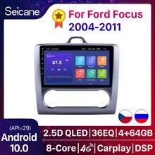 Seicane – autoradio 9 pouces, Android 10.0, Navigation GPS, DSP, écran tactile, Quad core, 2 DIN, pour voiture Ford Focus Exi AT, 2004, 2005, 2006, 2011