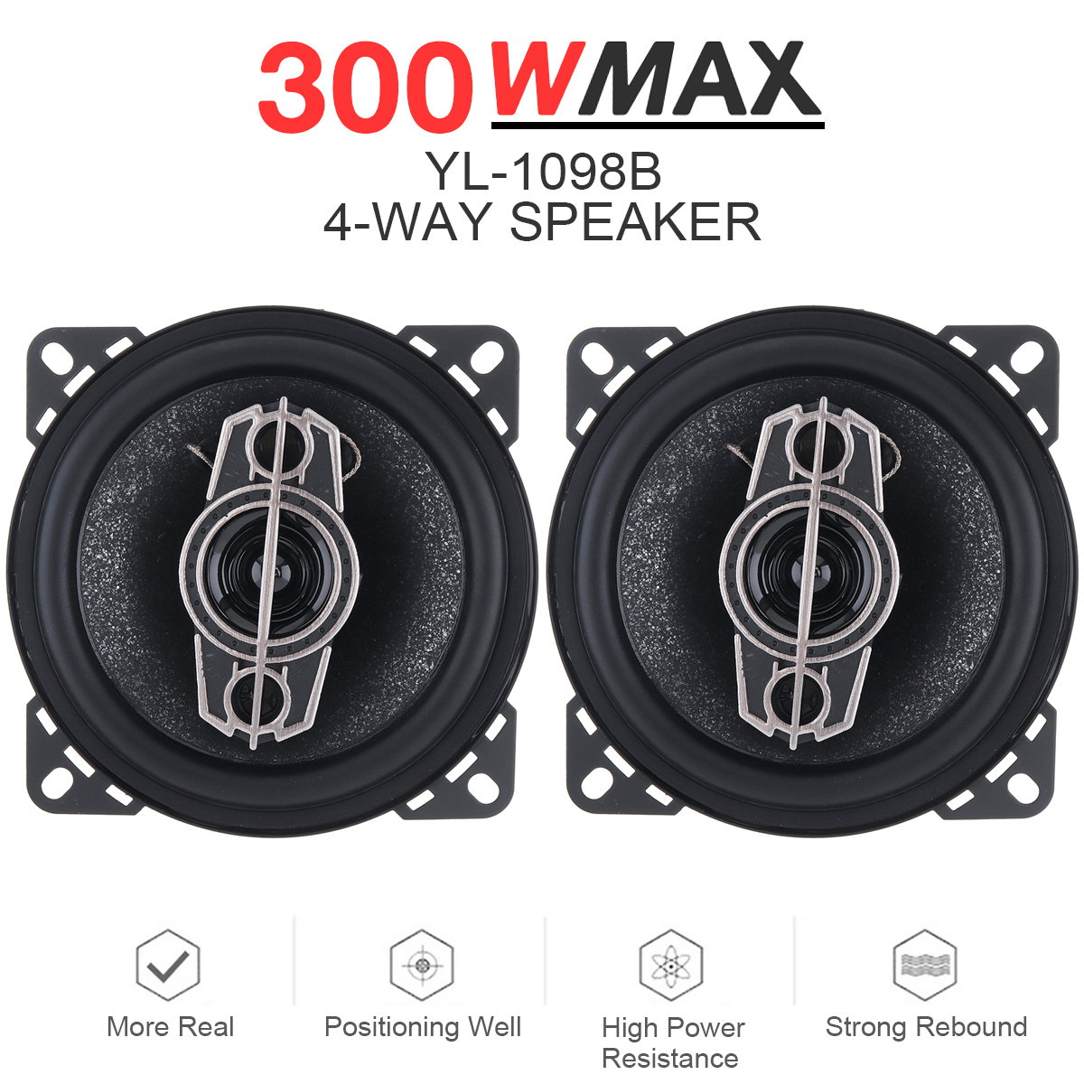 2pcs 40mm 5W~10W Full-frequency bass Bluetooth wifi Speaker neodymium hifi