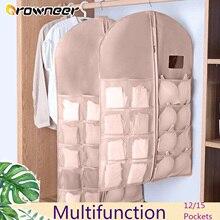 Clothing Wardrobe Bedroom Organizer Storage-Bag Hanging Wall Folding 12/15-Pockets Suit-Protector