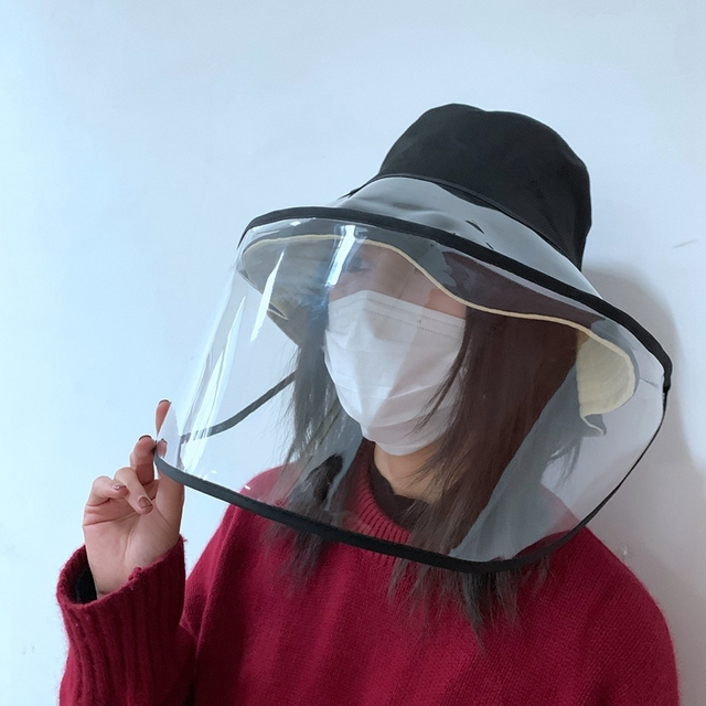 Epidemic Protection Hat Anti Saliva Fog Hat with Face Shield Hat Fisherman's Hat for Women Removable for Men & Women Campi