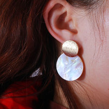 1PC 2019 New Natural Shell Drop Earrings For Women Long Tassel Earring Cool And Elegant Sweet And Fresh Earrings(China)