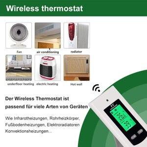 Image 3 - Nashone התרמוסטט בקרת טמפרטורת LCD בקר RF אלחוטי תרמוסטט חדר רצפת חימום 230V הפרס Thermostat Chauffage