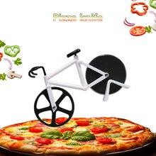 Нержавеющая сталь инструменты для резки пиццы Хо использовать держать нож для пиццы велосипедная Форма колеса кухонные инструменты использовать для вафельного торта печенья резки