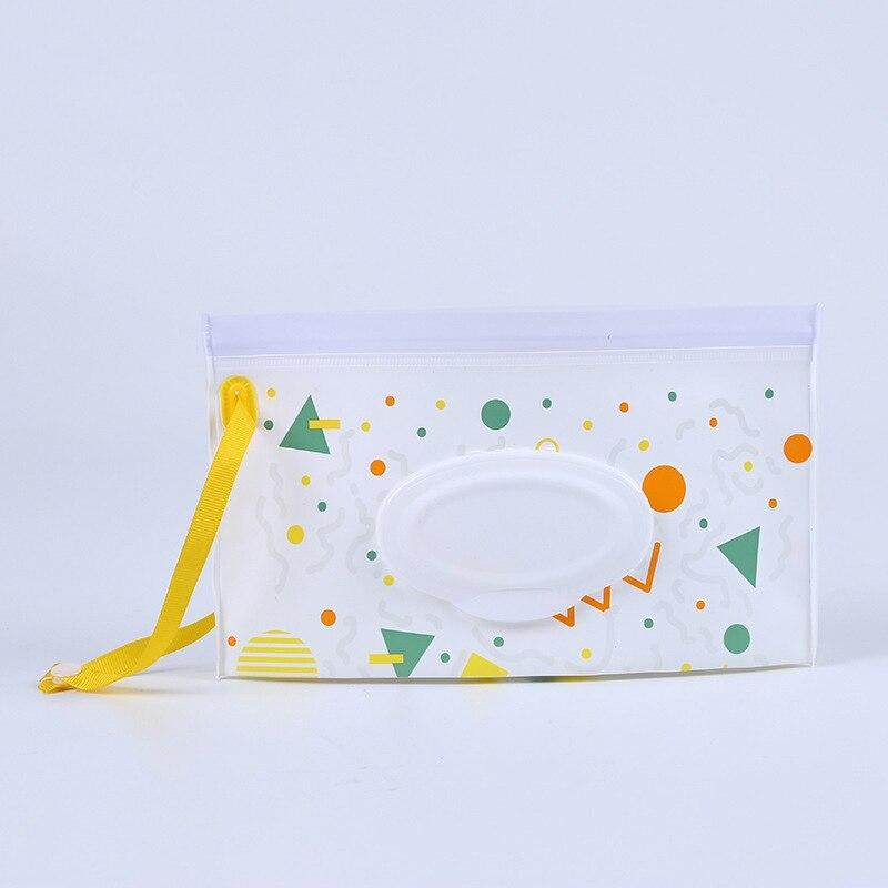 Детская сумка для влажных салфеток, тонкая бумажная практичная сумка для путешествий, портативный клатч, чехол для переноски, многоразовый, экологичный, сумка - Цвет: 3