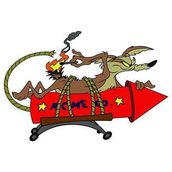 Creative Car Sticker Cartoon FOR Wile E Coyote ACME Rocket Pvc 14cm X 10cm Motorcycle Decorative Accessories Decal image