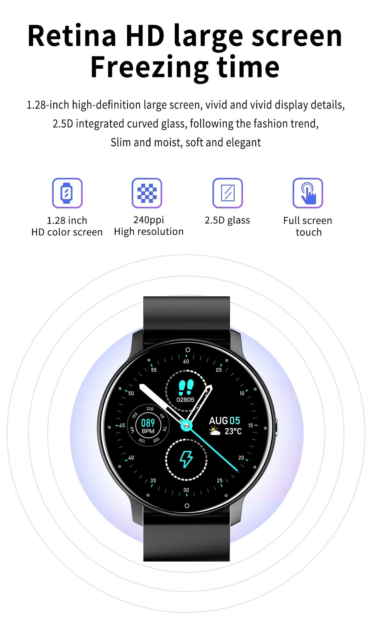 Heab86acb7aa142f9bd71b41d35170e39X LIGE 2021 Fashion Smart Watch Men Fitness Bracelet Heart Rate Blood Pressure Monitoring Sports Tracker Smartwatch Gift for Women