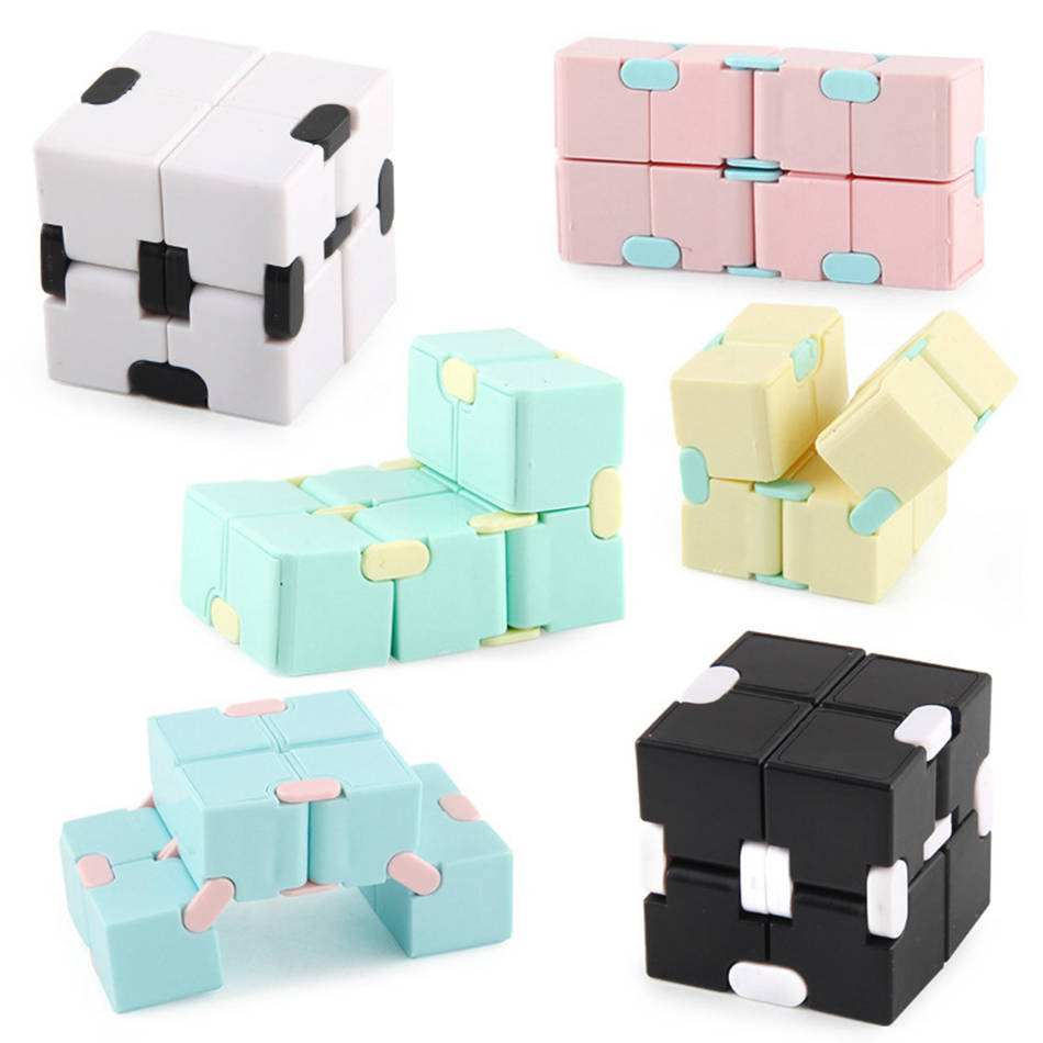 Fidget Toys Infinity Magic Cube Puzzle Relieve Stress Flip Cubic Children Adult Decompression Toy Game Four Corner Maze Toy Gift img3
