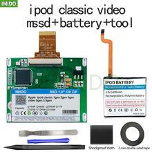 Nova ssd 120gb 160gb 240gb 480gb para ipod clássico 7gen ipod vídeo 5th substituir mk3008gah mk8010gah mk1634gal ipod hdd ferramenta