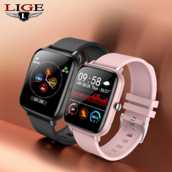 LIGE 2021 Fashion Men Smart Watch Women Heart Rate Blood Pressure Bluetooth Call Sport Watch Men Woman Waterproof Smartwatch Men