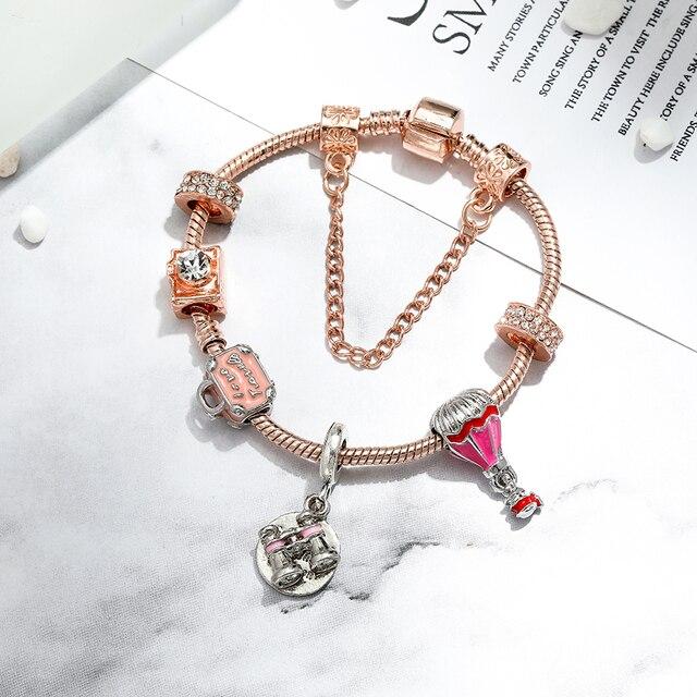 Telescope Charm Bangle For Women Girl Memorial Jewelry 2