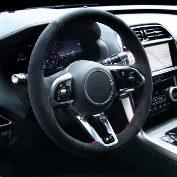 Чехол рулевого колеса автомобиля, защита интерьера для Jaguar XE XF XJ, автомобильный Стайлинг, аксессуары для модификации и модификации автомоби