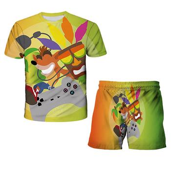 Verão 3d męskie koszulki z nadrukiem koszulki z nadrukiem koszulki z nadrukiem koszulki z nadrukiem koszulki z nadrukiem tanie i dobre opinie POLIESTER Damsko-męskie 25-36m 4-6y 7-12y 12 + y Na co dzień CN (pochodzenie) Lato Z okrągłym kołnierzykiem Zestawy