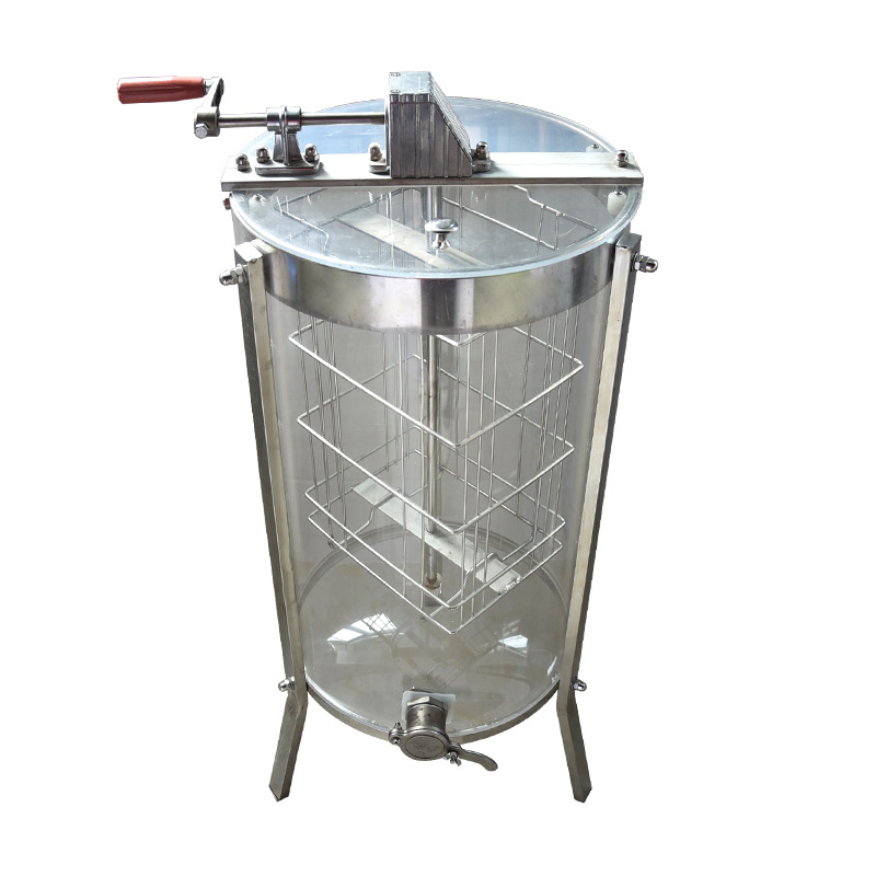 Beekeeping Tools 2 Frame Manual Transparent Acrylic Honey Extractor Shake Honey Play Tang Tong Honey Seperater Dumped Honey Mach