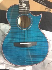 Image 4 - Enya 26 inch Ukulele Flame Maple 23inch Blue Ukulele Concert Tenor ukulele Hawaii Guitar 4 String musical instruments