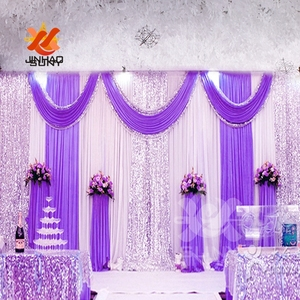Image 5 - The  Cheap Wholesale Ice Silk Sequin Cloth Drapery Wedding Background