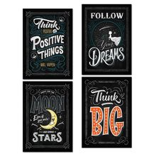Inspirational Classroom Posters -Chalkboard Motivational Quotes for Students - Teacher Classroom Decorations 7.8x9.8in цена 2017