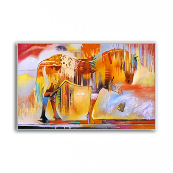 oil painting horse hand-painted painting Abstract painting horses painting oil Modern painting art Unique design 2020041301