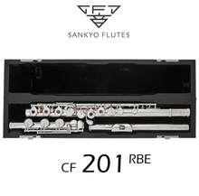 Profissional sankyo cf201 flauta etude e chave split banhado a prata flauta c tom 17 buracos cópia flauta aberta