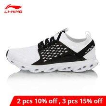 لى نينغ المرأة LN قوس وسادة احذية الجري أحادية الغزل تنفس بطانة لى نينغ يمكن ارتداؤها أحذية رياضية ARHN136 XYP715
