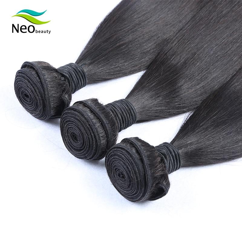 Brazilian Hair Weave Bundles Straight Hair Extension 10A Virgin Hair 8-36 38 40 Inch Human Hair Bundles 1/3/4 PCS Neobeauty