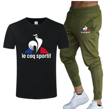 Men's Casual Tracksuit Summer Clothes Sportswear Two-Piece Set T-Shirt Male Brand Track Clothing