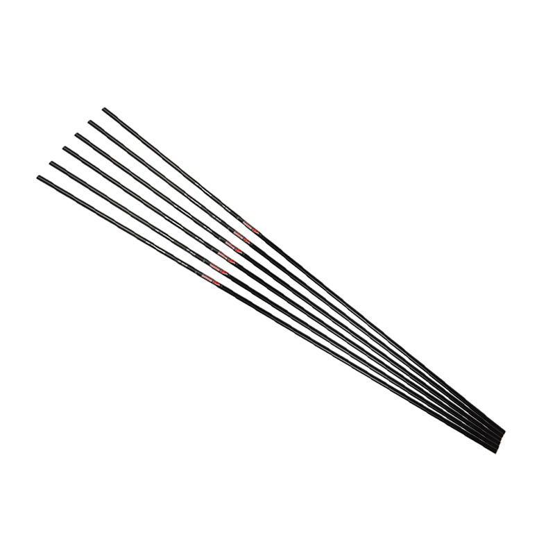 12pcs Archery Pure Carbon Arrow Shaft Black Spine300 600 DIY Arrow Sports Game Training Profession Shooting Hunting Accessories in Bow Arrow from Sports Entertainment