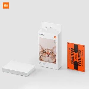 Image 1 - Carta fotografica adesiva con stampa tascabile Xiaomi 50 fogli imaging monouso senza inchiostro stampa carta fotografica di alta qualità 3 pollici