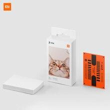 Клейкая фотобумага Xiaomi с карманным принтом, 50 листов, клейкая Высококачественная фотобумага для однократного изображения без чернил, 3 дюйма