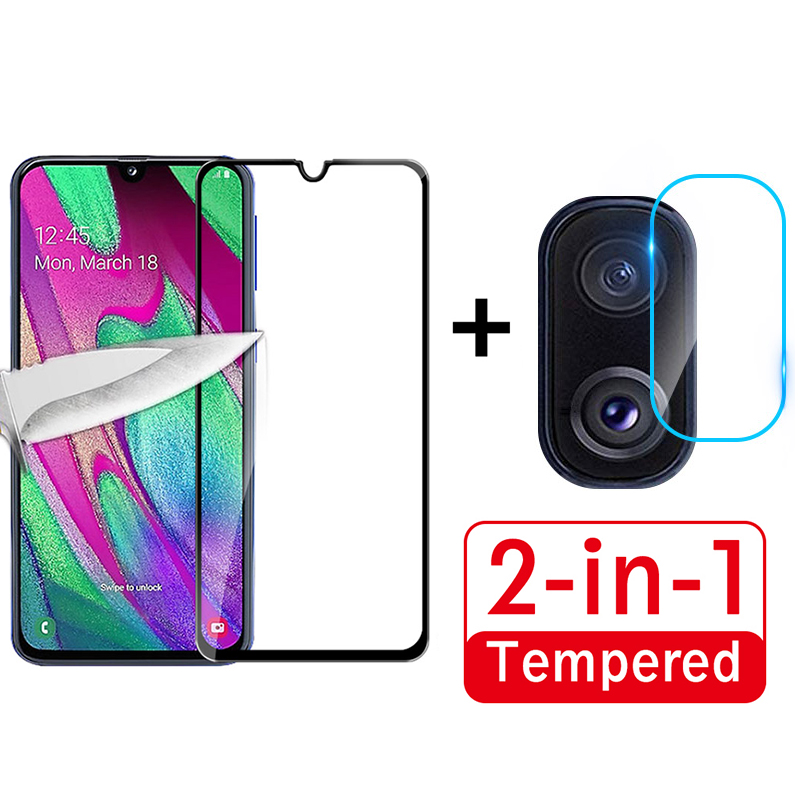 2 In 1 Screen Protector+Clear Camera Lens Film For Samsung M40 M30 M20 M10 S10e A80 A90 A70 A60 A50 A40 A30 A20 A10 S Front Film