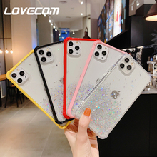 LOVECOM Gradient Color Glitter Phone Case For iPhon