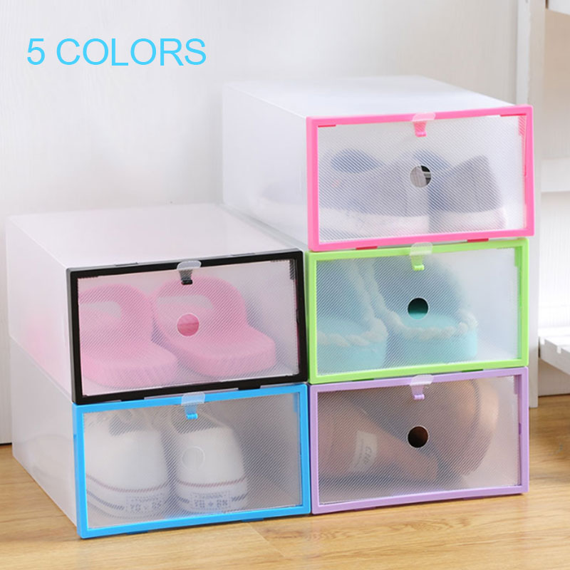 PP Shoe Box Durable Foldable Box Organization Save Space Convenient Shoes Storage Box Home Accessory Housekeeping