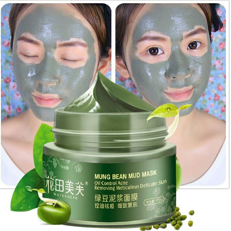 WATIANMPH 120g Mung Bean face Mask Moisturizing Oil Controlling Whitening Anti Acne Deep Cleansing Pore Skin Care for face