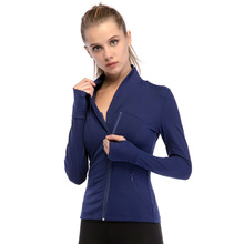 2019 New Yoga Clothes Autumn Winter Womens Sports Fitness Jacket Quick-drying Tight Zipper Long-sleeved Jackets