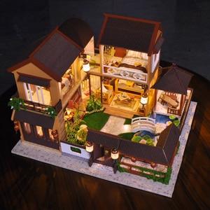 Image 3 - 子供たちのおもちゃdiyドールハウス組み立てるミニチュアドールハウス家具ミニチュアドールハウスパズル教育玩具子供のため