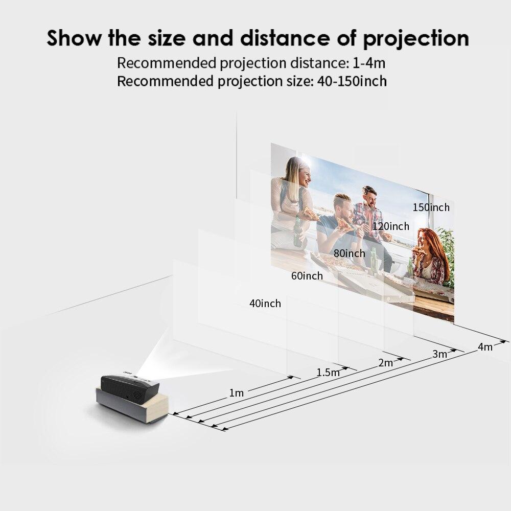 Crenova mini projetor led g08 1280*720p 3000 lumens android wi fi proyector para suporte de telefone 4k 3d casa vídeo beamer projetor-3