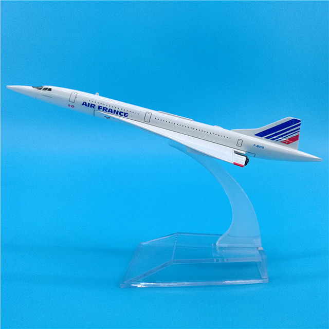 1:400 Scale 16CM Concorde Air France Plane Model 1976-2003 Diecast Aircraft Toy Airplanes Supersonic Airliner Gift Collectible