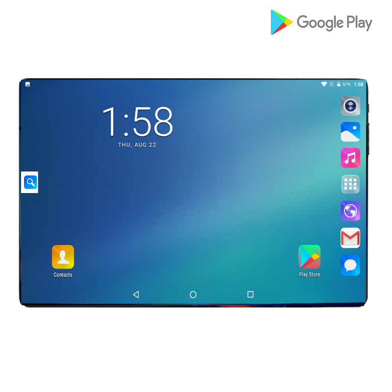 2019 Super 10inch Tablets Octa Core 6GB RAM 64GB ROM 6000mAh 2.5D IPS Large Screen Dual SIM Cards Android 9.0 Pad Phablet +Gifts