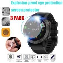Película protetora de vidro, película hd transparente para absorção, não é temperado, película protetora para relógio garmin fenix 6 6x 5 protetor