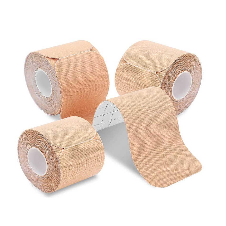 1 Pc Voorgesneden/Ongesneden Kinesiologie Tape Boob Tape Spier Pijn Verlichten Fitness Ademend Waterdicht Sport Therapeutische Plakband
