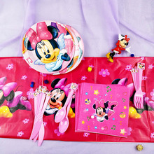 Minnie Mouse Theme Kids Birthday Party Decoration Cartoon Mickey  Event Party Supplies Baby Shower Birthday Party Pack Gifts disney minnie mouse girls kids birthday party decoration set mickey party supplies baby birthday party pack event party supplies