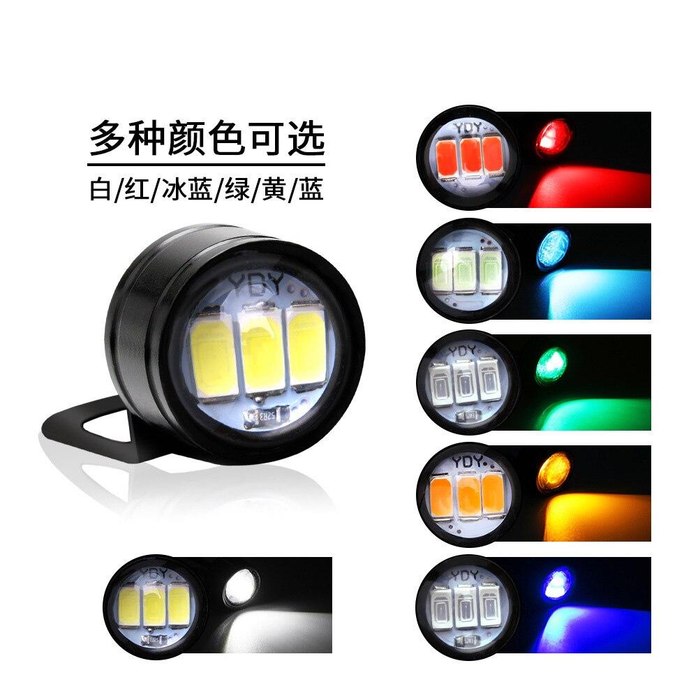 Image 4 - 2PCS Motorcycle Hawk eye Lamp Ghost fire Lamp Modification Component Information Hawk Pedal LED Mirror Flash Hooligans Lamp 12V    -
