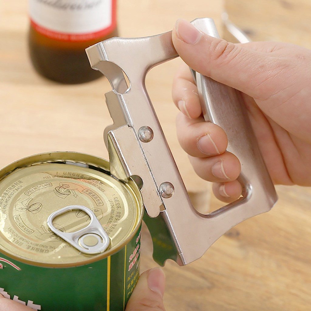 Can Opener Manual Stainless Steel Bottle Opener Kitchen Tin Opener Smooth Edge Professional Ergonomic Manual Can Opener Kitchen